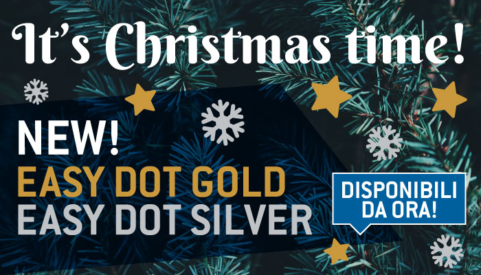 IT'S CHRISTMAS TIME! NEW EASY DOT GOLD / SILVER