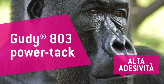 Per una soluzione affidabile scegli il nuovo biadesivo gudy 803 power-tack