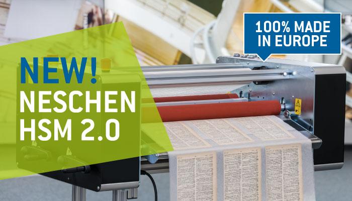 Nuova NESCHEN HSM 2.0: lo strumento ideale per il restauro dei documenti cartacei