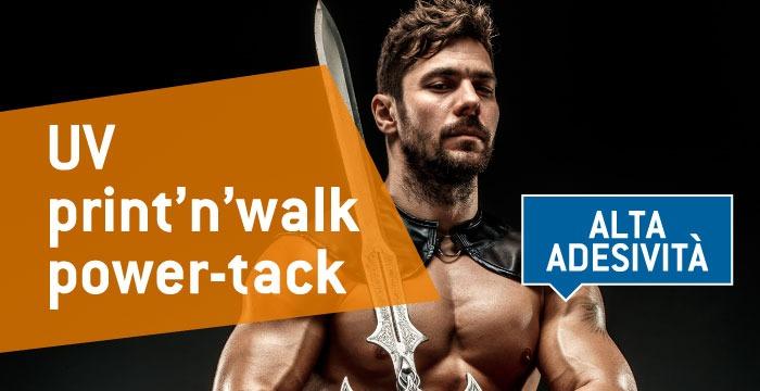 UV print'n'walk power-tack: il nuovo alleato per grafiche a pavimento su superfici difficili