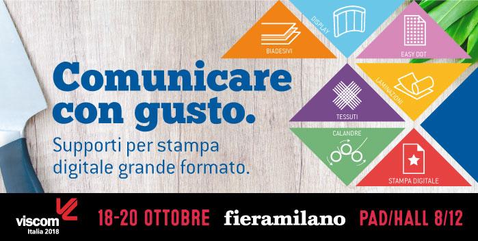 Comunicare con gusto. Filmolux Italia ti aspetta al Viscom 2018!